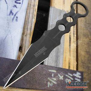 "BLACK 3PC SET 7.5"" Hunting Knife Tactical Knives Full Tang Fixed Blade Knives"