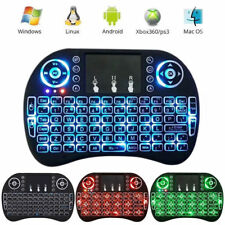 New 2.4G Backlit Wireless Keyboard Touchpad Rechargeable for TV Box Android PC