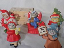 5 Kitty Cucumber Rare  Figurines by Schmid Christmas Trees for Sale MNB  Rare