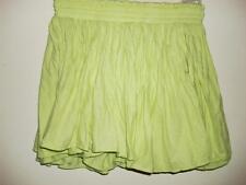Seneca Rising lime greent gray polk a dot mini skirt elastic waist size XS New