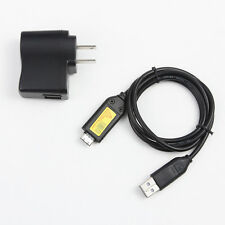 USB AC Power Adapter Charger Cord For Samsung i100 TL420 PL55 ES55 TL350 Camera