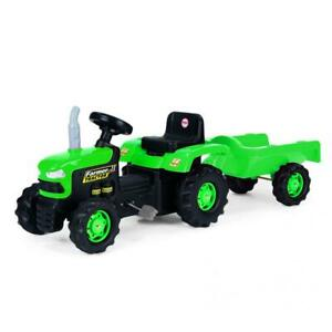 Dolu Pedal Tractor with Trailer Childrens Ride On Toy Outdoor Garden Fun Kids