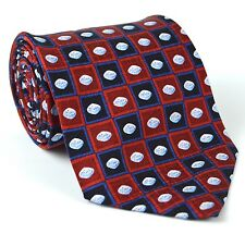 Pfizer Corporate Pharmaceutical Viagra Blue Pill 100% Silk Neck Tie Burgundy Red