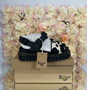 Dr Martens Leather Voss Animal Cow Print, UK 5, BRAND NEW, Discontinued, RARE