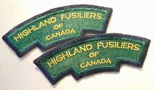 CANADA Canadian Armed Forces HIGHLAND FUSILIERS shoulder titles badges patches