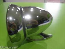 Classic car chrome sport balle porte/aile rétroviseur, tête réglable, mini,