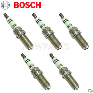 Set of 5 Spark Plugs Bosch For Volvo S40 V50 2004 2005 2006 2007-2010