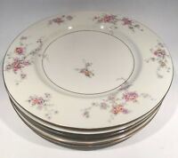 "Set of 6 Theodore Haviland GLORIA New York Dinner Plates - Size 10 3/4"" Floral"