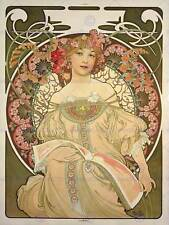 Alphonse mucha champagne publisher 1897 old art painting print 115OM