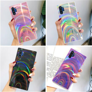 For Samsung Galaxy S21 S10Plus A51 A71 Ultra Glitter Laser Case Cover Shockproof
