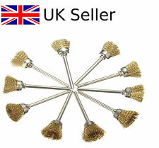 5pcs 16mm Brass Wire Wheel Brushes Fit For Dremel Rotary Tool Accessories 1141