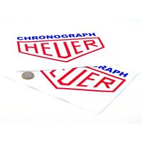 Heuer Chronograph Blue Stickers Classic Racing Vinyl Decals 200mm x2 F1 Rally