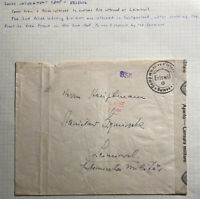 1940s Eriswil Switzerland POW Camp Polish Internee Cover To Leimoswil Camp