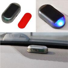 Solar Energy Simulation Dummy Alarm Warning Anti-Theft Blue LED Flashing Light