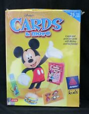 Avery Kids ~ Disney ~ Cards & More ~ PC CD-ROM (1998) ~ NISP