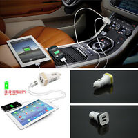 Car Dual USB 2 Port Plug Cigarette Lighter Adapter Mobile Phone Charger Adapter