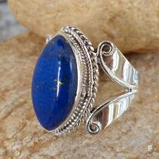 Echtschmuck aus Sterlingsilber Ringe mit Lapis Lazuli-Hauptstein für Damen
