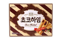 Korean Snack CROWN CHOCO HEIM 284g Crispy and Delicious Good Snack With Coffee