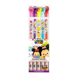 Disney Tsum Tsum Colored Smencils 5-Pack of Scented Coloring Pencils NIP Smelly