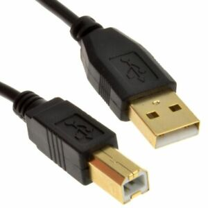10 Ft USB GOLD ⭐ High Speed ⭐  A Male to Type B Male Printer Scanner Cable > USA