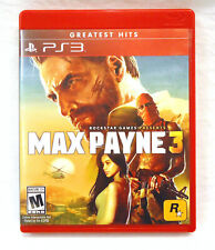 Max Payne 3 (Sony PlayStation 3, 2012) PS3 Complete w/ Manual