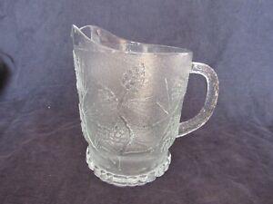 Vintage Indiana Tiara Glass Ponderosa Pine Frosted 68 oz. Pitcher