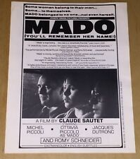 Mado Film Poster Ad Mats Claude Sautet Movie Michel Piccoli Ottavia Piccolo