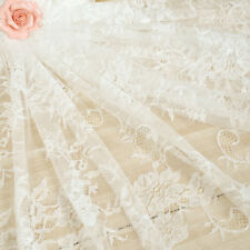 Wedding Table Runner White Lace Table Runner Cover Boho Floral Table Cloth Decor
