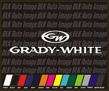 "12"" Grady White Boat fishing Fish Truck Boating Vinyl Decal Car Window Sticker"