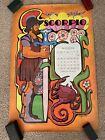 Rare Vintage Nash Publications 1969 Harry Wysocki Zodiac Scorpio Poster 32x21