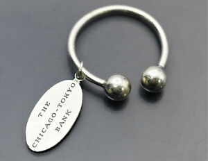 AUTHENTIC TIFFANY&CO. STERLING SILVER 925 PLATE KEY RING 19.5g  No Reserve