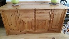 Pinewood 4 door sideboard with 4 drawers