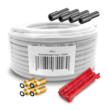 HD Kabel 135db 50m SAT 4 F Stecker Abisoliermesser Antennenkabel koaxial 4k ARLI