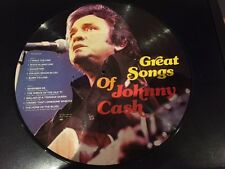 Mint Johnny Cash - Great Songs - Rare Danish Import Picture Disc
