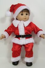 CHRISTMAS Santa Claus Suit Costume Doll Clothes For Bitty Baby Boy Twin (Debs)