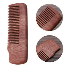 Fine Tooth Wood Beard Comb Pocket Size Massage Anti-static Hair Care Brush Gift