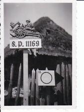 uraltes org.Photo Schild Feldpost-Nummer 11169 Inf.-Reg.482 Russland Moskau /49