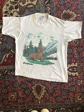 Vintage 1990s California Wilderness Tee Bears Eagles Hiking Large Hipster Punk