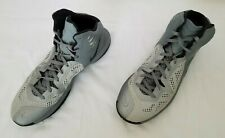 Men Sz 15 Grey Nike Zoom Hyperfuse High Top Basketball Shoes 684591-002 preowned
