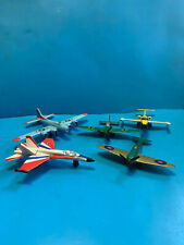 Vtg 1970's Mixed Brand Fighter Jet Lot Matchbox Lesney,Roadchamps, And Unmarked