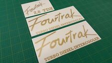 Daihatsu Fourtrak replacement tailgate side Decals stickers graphic 2.8 tdi tdx
