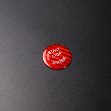 Engine Start Stop Switch Carbon Fiber Button Cover For BMW E60 E70 E90 E92 Red