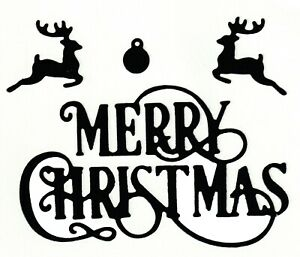 Small Merry Christmas with Reindeer - Metal Cutting Dies - AUSTRALIAN STOCK