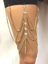 NEW Jewelry Retro Lady Body Boho Beach MULTI-layer Thigh Leg Chain Elasticated
