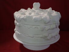 """BISQUE FOOTED PEDESTAL CAKE STAND READY TO PAINT 10 1/2""""X11 1/2""""  (C65) AMAZING"""