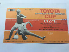 More details for nottingham forest v nacional 1980 fifa toyota club world cup ticket