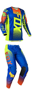 2021 Fox Racing Oktiv Blue Kids Youth 180 Pant & Jersey Riding Gear Combo