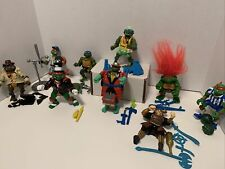 Vintage TMNT Figure and Accessories Lot - 90's Ninja Turtles Some Complete