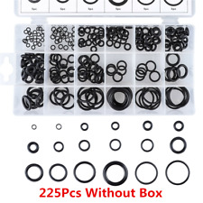 225PCS 18 Sizes Rubber O-Ring Washer Assortment Set Gasket Automotive Seal Kits~