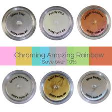 3g Chrome Powder AMAZING SHINE by Mitty - Rainbow Chrome pack